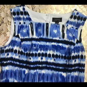 Dresses & Skirts - Tabard dress like new- Blue White water color Sz 8